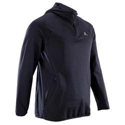 Fitness trui FSW500 voor heren, zwart