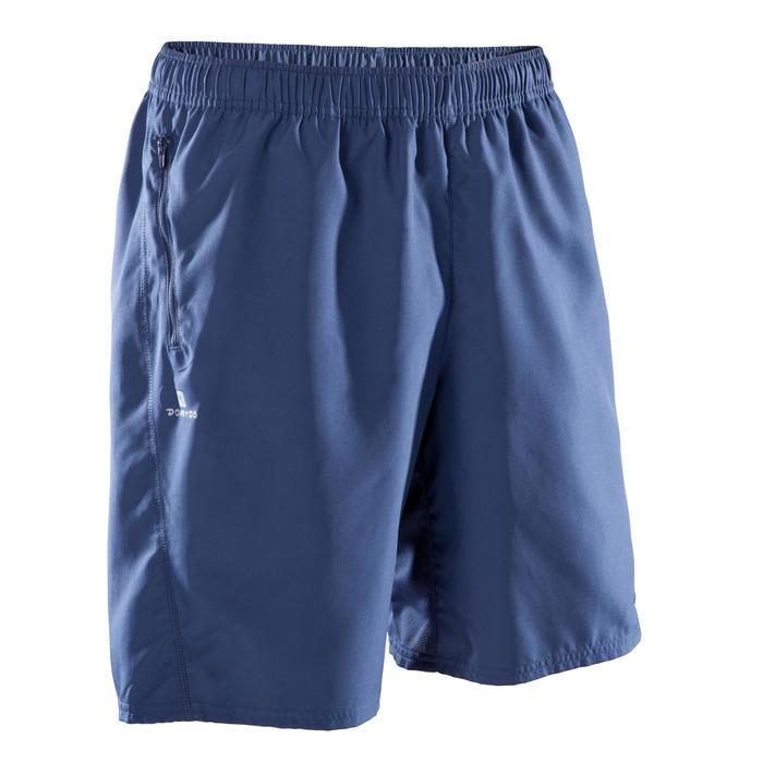 Short fitness cardio-training hombre FST120 gris azul