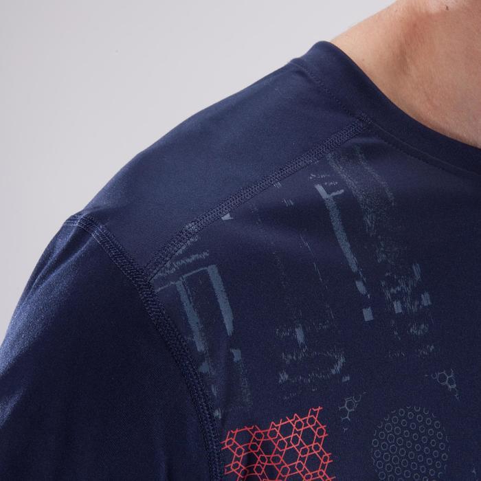 T-Shirt Cardio 120 Herren Fitness marineblau mit Print