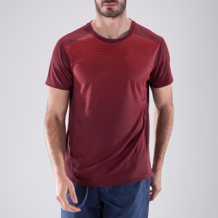 T-shirt fitness cardio homme noir imprimé FTS 120 - 1411484