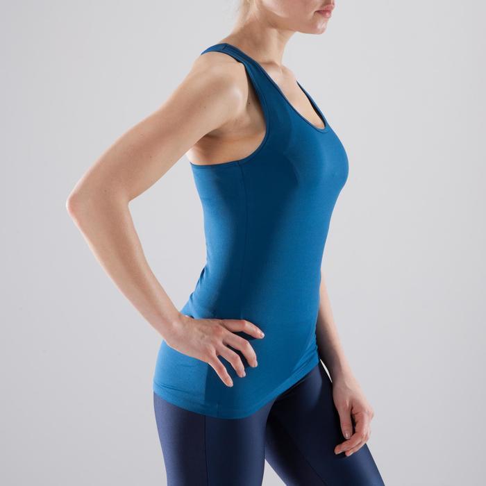 Camiseta sin mangas Cardio Fitness Domyos 100 mujer azul