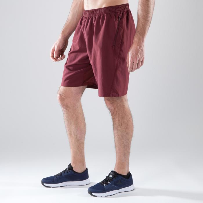 Sporthose kurz Cardio 120 Fitness Herren bordeaux