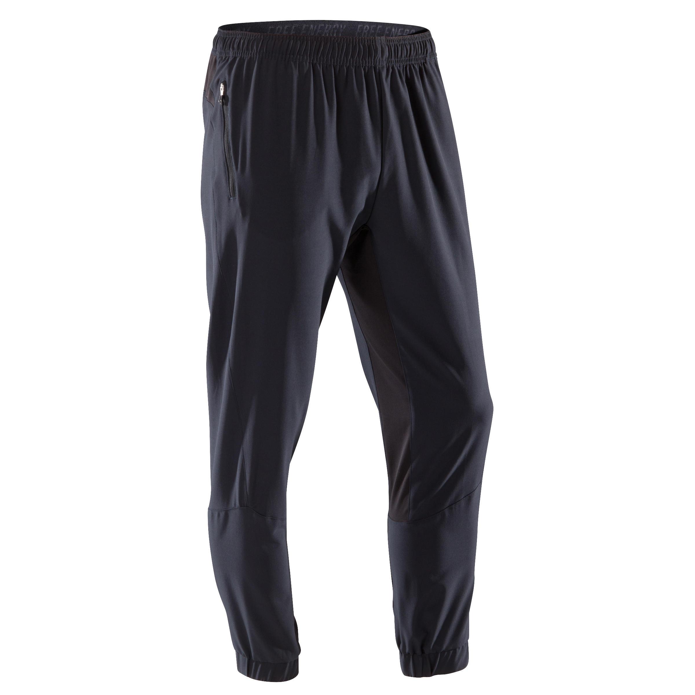 Domyos Fitness broek FPA500 voor heren, zwart