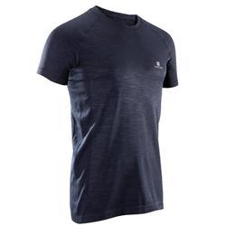 T-shirt fitness cardio homme  FTS900 gris foncé