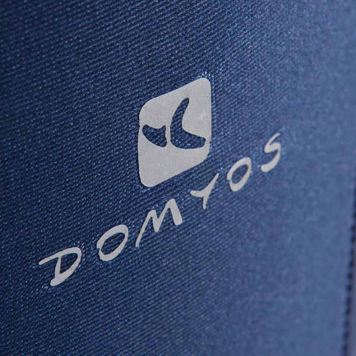 Legging fitness cardio femme bleu marine et imprimés tropicaux roses 500 Domyos - 1411575