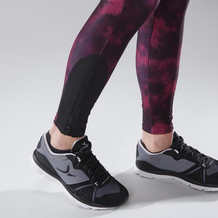 Leggings fitness cardio-training mujer con estampados rosa 500