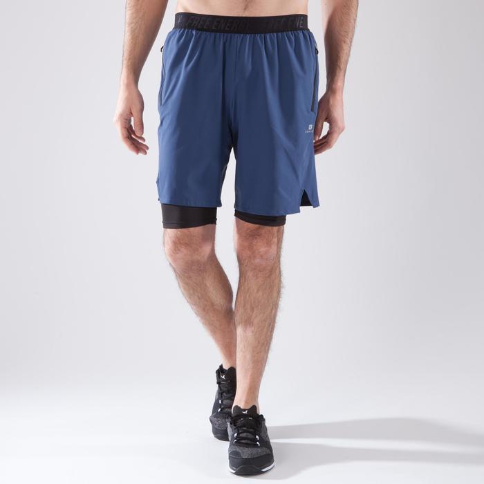 Short fitness cardio homme noir kaki FST520 - 1411587