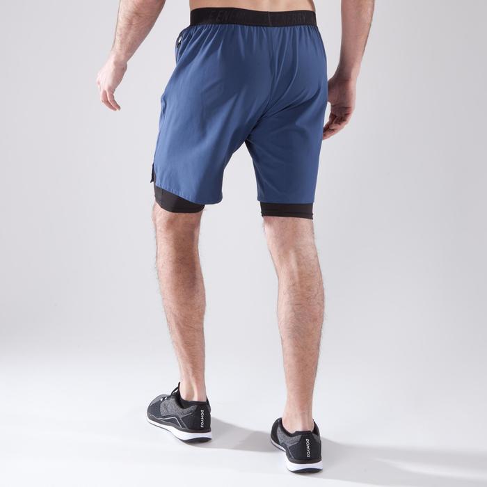 Short fitness cardio homme noir kaki FST520 - 1411589