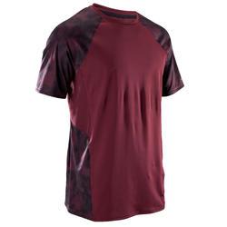 T-shirt manches courtes entraînement cardio homme FTS 500 BORDEAUX