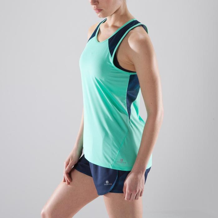 Camiseta sin mangas fitness cardio para mujer verde menta 500