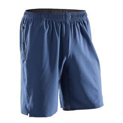 Short fitness cardio homme FST500 GRIS BLEU
