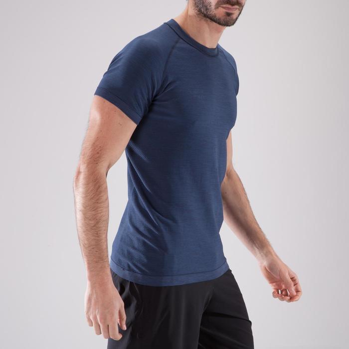 T-shirt fitness cardio homme  FTS900 gris foncé - 1411627