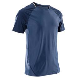 Camiseta fitness cardio hombre FTS 920 AZUL GRIS