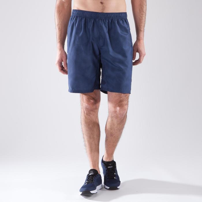 Short fitness cardio-training hombre FST120 gris AOP