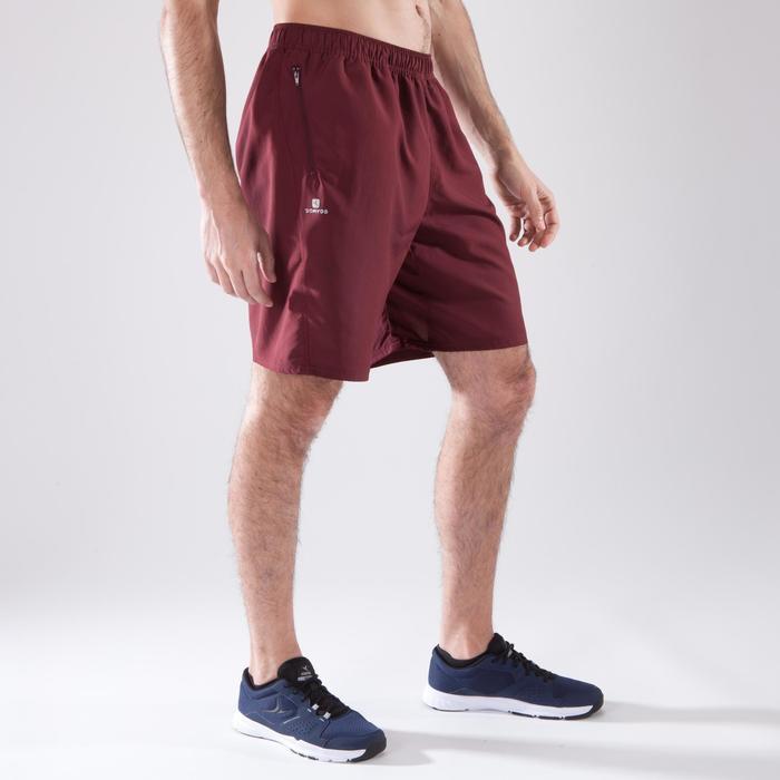 Sporthose kurz FST 120 Fitness-/Cardiotraining Herren bordeauxrot