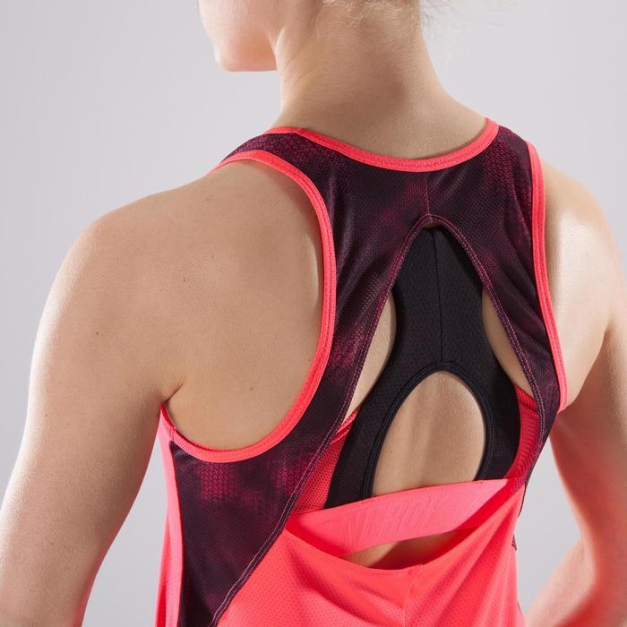 Débardeur fitness cardio-training femme corail 500