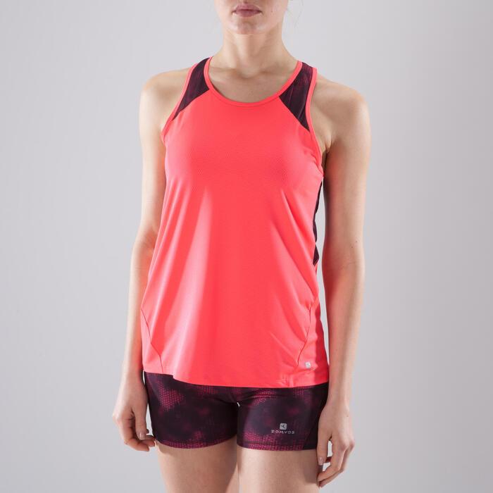 Camiseta sin mangas fitness cardio-training mujer coral 500