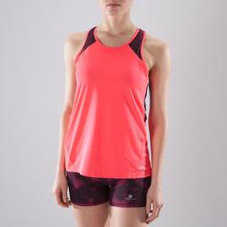 Camiseta sin mangas tirantes Cardio Fitness Domyos 500 mujer rosa flúor