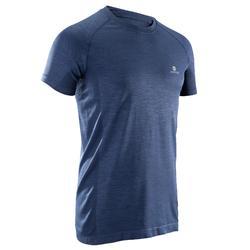 Fitness T-shirt FTS900 voor heren, voor cardiotraining, blauwgrijs