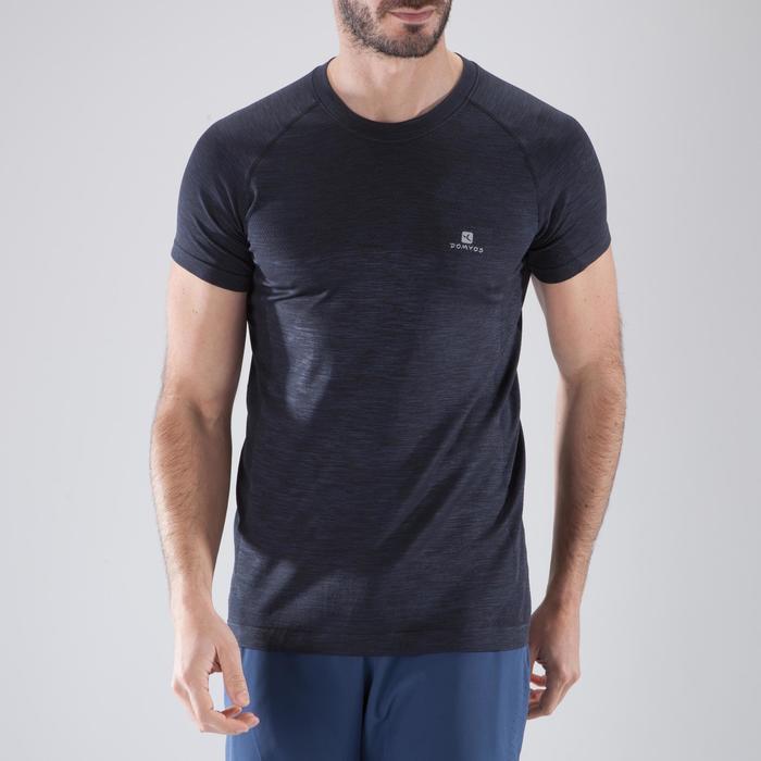 T-shirt fitness cardio homme  FTS900 gris foncé - 1411689