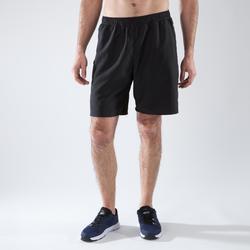 Pantalón corto chándal Fitness Cardio Domyos FST 120 hombre negro