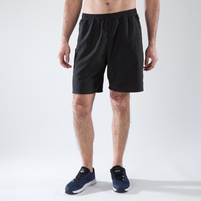 Sporthose kurz FST 120 Cardio-/Fitnesstraining Herren schwarz
