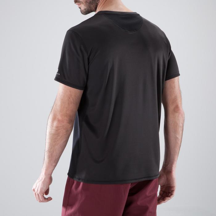 T-Shirt Cardio 120 Fitness Herren schwarz Print