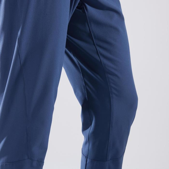 Fitnessbroek cardio heren FPA500 grijs/blauw