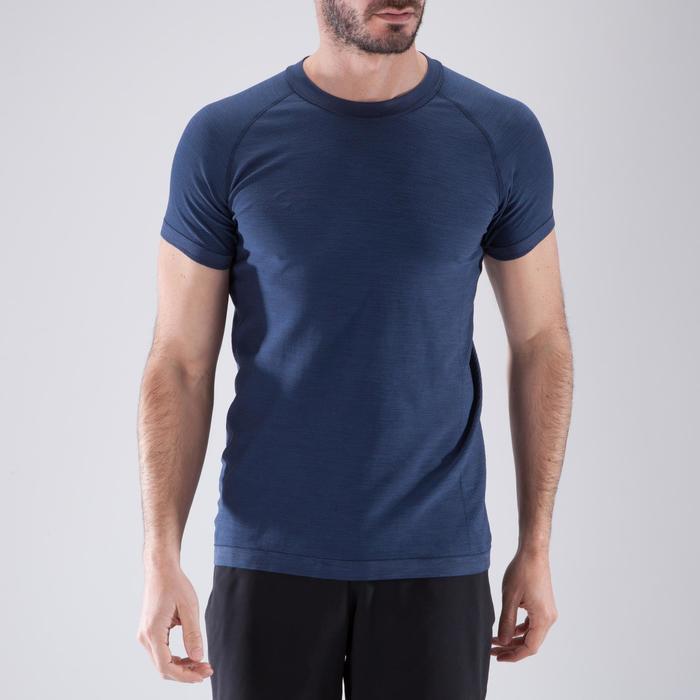 T-shirt fitness cardio homme  FTS900 gris foncé - 1411726