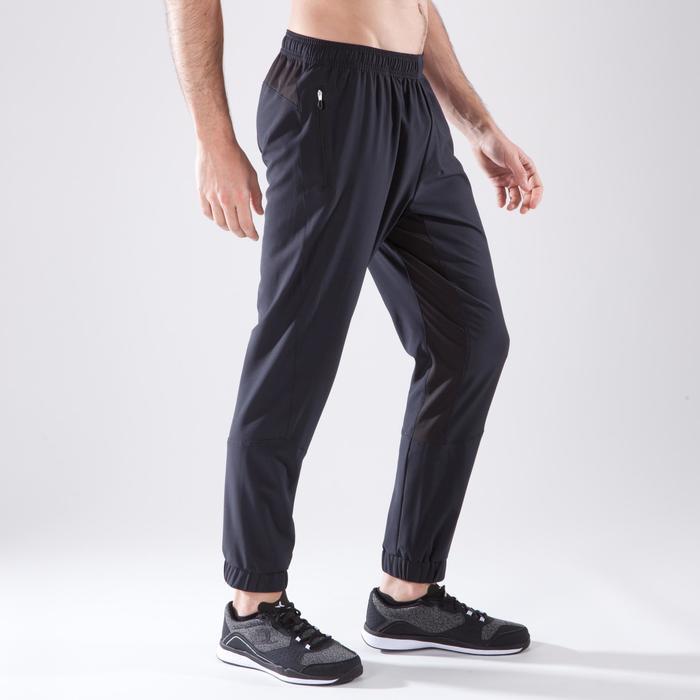 Pantalon fitness cardio training homme FPA 500 noir