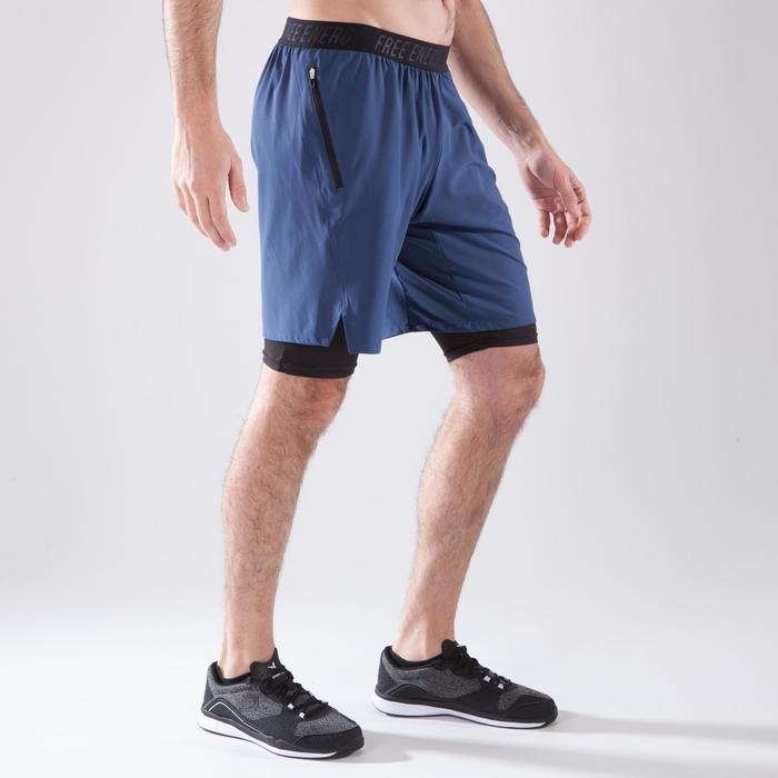 Short fitness cardio homme noir kaki FST520 - 1411744
