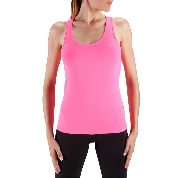 Camiseta sin mangas MY TOP fitness mujer rosa oscuro