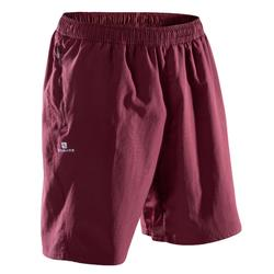 Short de fitness cardio-training para hombre FT120 burdeos