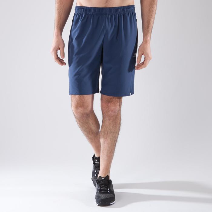 Cardiofitness short voor heren FST500 blauwgrijs