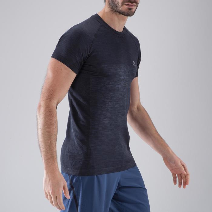 T-shirt fitness cardio homme  FTS900 gris foncé - 1411780