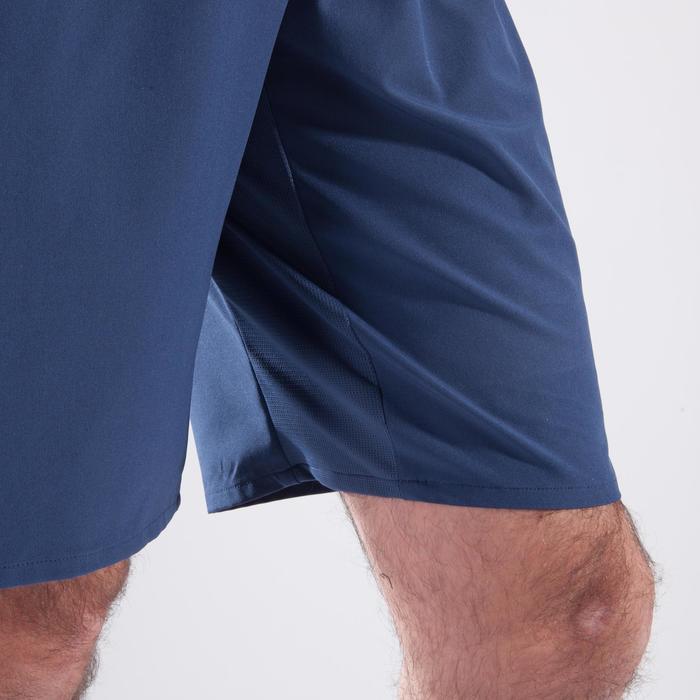 Short fitness cardio hombre FST500 GRIS AZUL