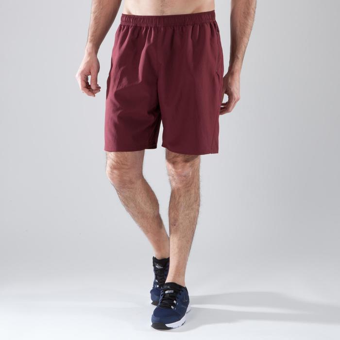 Short de fitness cardio-training para hombre FT120 burdeos