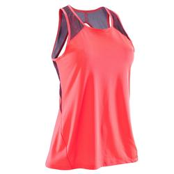 500 Women's Fitness Cardio Training Tank Top - Coral