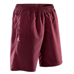有氧健身短褲FST 120 - 暗紅色/印花