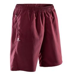 Short fitness cardio-training homme FST120 bordeaux print.