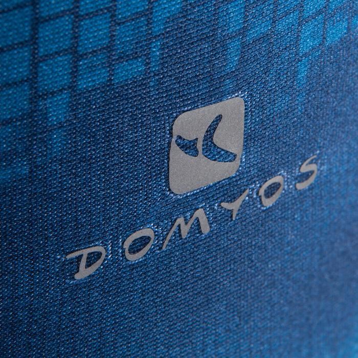 Legging fitness cardio femme bleu marine et imprimés tropicaux roses 500 Domyos - 1411826