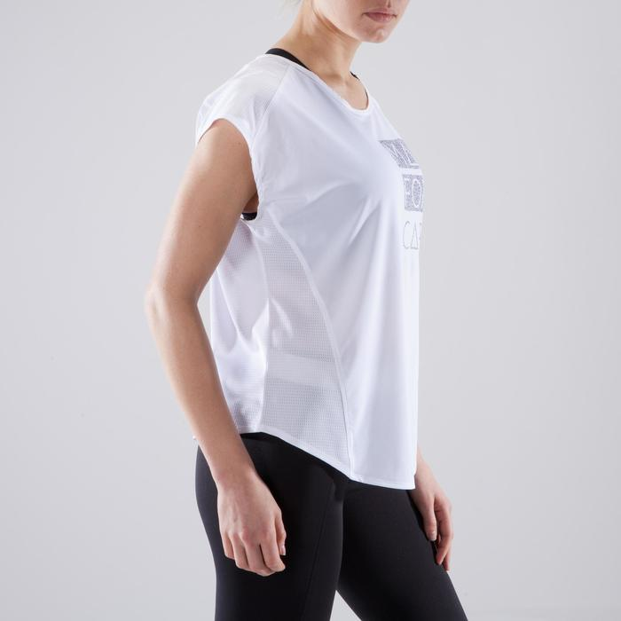 Fitness shirt 120 voor dames, loose fit, wit