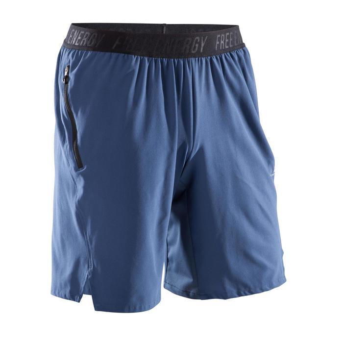 Short fitness cardio homme noir kaki FST520 - 1411852