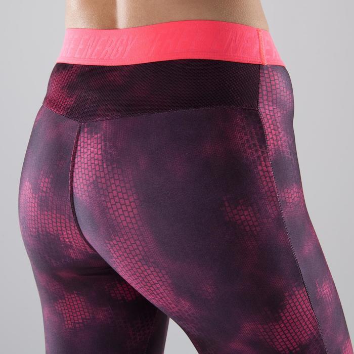 Legging fitness cardio-training femme à imprimés roses 500