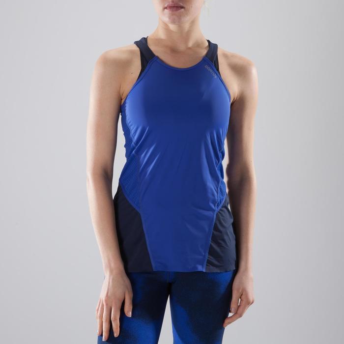 Débardeur fitness cardio-training femme bleu 900