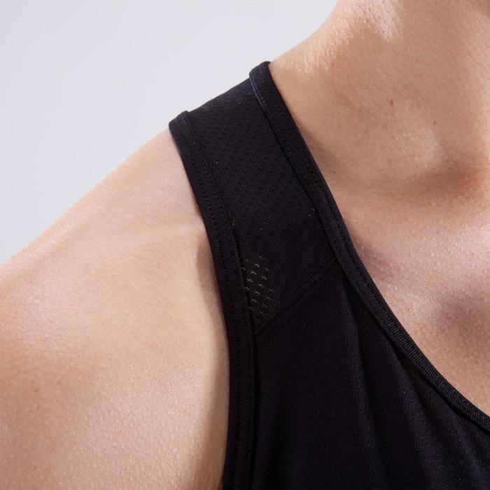 Cardiofitness top voor dames zwart met witte print 120