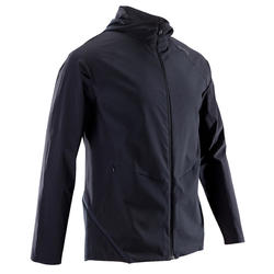 Men's Ultra-Light with Hoodie Fitness Tracksuit Jacket - Black