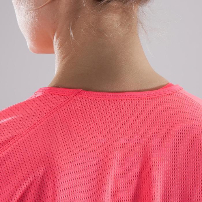 T-Shirt Cardio 120 Loose Damen Fitness rosa mit Prints