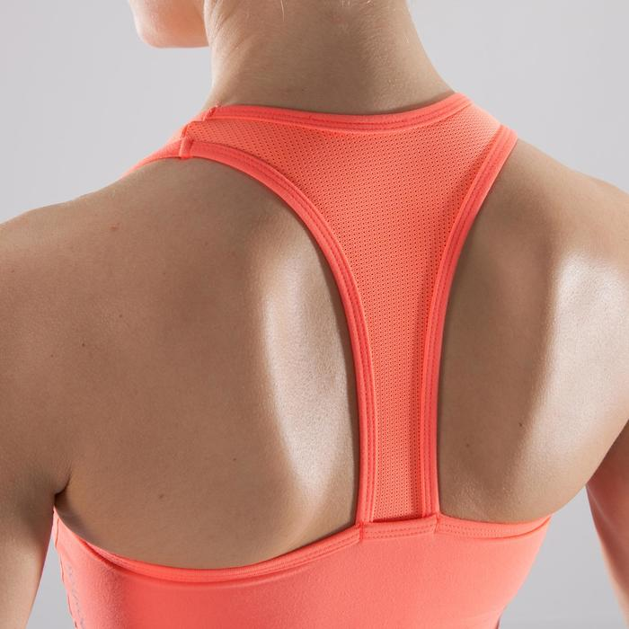 Sujetador-top fitness cardio-training mujer coral 100