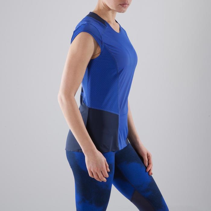 Cardiofitness T-shirt 900 voor dames blauw